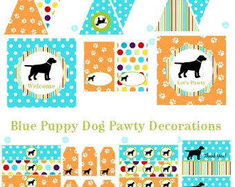 Puppy Birthday, Puppy Baby Shower, Puppy Birthday Decorations, Puppy Baby Shower Decorations, Puppy Party Decorations