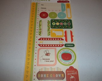 "Garden Variety Cardstock Stickers by Cosmo Cricket 5.5"" x 13"" sheet"