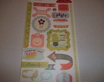 "Pixie-Licious Cardstock Stickers by Cosmo Cricket 5.5"" x 13"" sheet"