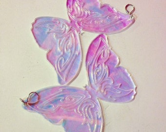Holographic Butterfly Tribal Dreams Earring pair