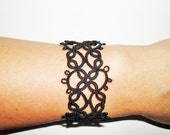 Tatted black bracelet
