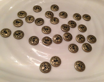 All the same - 28 gold metal 2 hole buttons