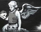 Banksy Print  - Cherub and Skull  - Multiple Paper Sizes