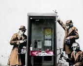 Banksy Art Print  - Spy Booth - Multiple Paper Sizes