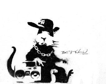 Banksy Print  - Le BoomBox Rat - Multiple Paper Sizes