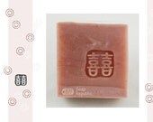 Small double happiness  / Acrylic Soap Stamp ( Soap Republic )