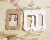 50•ZOE• 2.5 x 3.5 inch•Flat Cards•EARRING CARDS•Jewelry Cards•Earring Display•Earring Card•Earring Holder