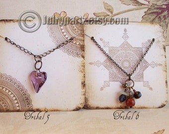 24•TRIBAL Series•Necklace Cards•Jewelry Cards•Necklace Card•Earring Holder•Necklace Holder•2x2 or 3x3
