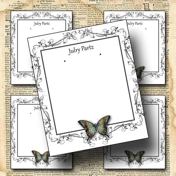 Custom Jewelry Display Frame: FRAME 4 Earring Cards Jewelry Cards Earring Display By