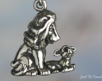 Sterling Silver Lion and the Lamb Charm Friends Animal Friendship .925