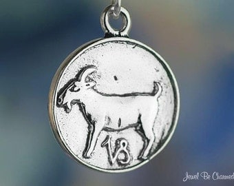 Capricorn Charm Sterling Silver The Goat Zodiac Astrology Sign Symbol