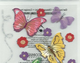 Jolee's Boutique  -- Colorful Butterflies  --  Dimensional Stickers   --   NEW  --   (#709)