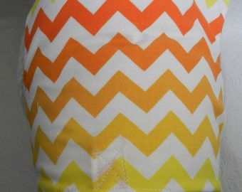Chevron Anyone? Classic & Elegant Wide Graphic Ombre Orange Yellow Chevron Business Theme Harness. Perfect for your Cat, Dog or Ferret.