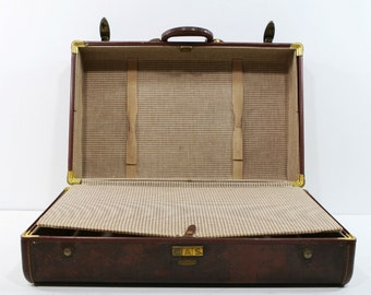 Vintage Samsonite Suitcase, Houndstooth Interior