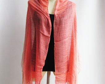 SC2, V Triple Pink Cotton Scarf