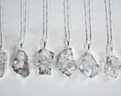 ON SALE Druzy Quartz Long Necklace