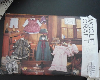 Vogue 8337 Early American Doll Clothes Pattern