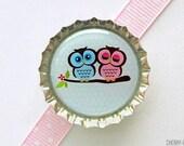 Owl Magnet, Bottle Cap Magnet, secret santa gift fridge magnet owl baby shower favor girl owl party favor unique stocking stuffer, owl decor