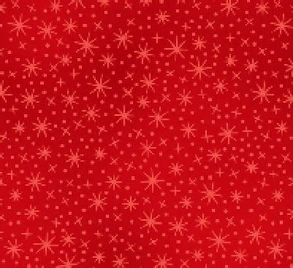 Per Yard Red Stars Coordinating Fabric, Elizabeth Studio