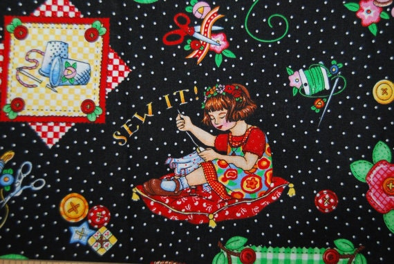 Novelty Mary Engelbreit Sewing It Quilt It Sold By The Fat
