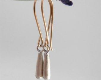 silver drop earrings solid gold silver earrings modern fine jewelry modern earrings silver gold dangle earrings modern