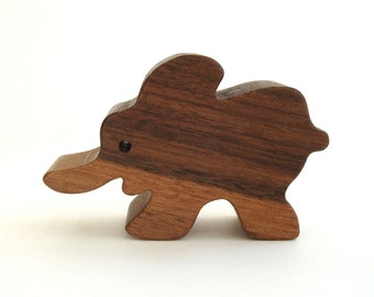 Miniature Wooden Elephant Toy Waldorf Wood Toys Wood Zoo Animal Toy Waldorf Wood Animal