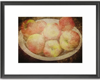 Apples, Still Life, Faded, Vintage, Primative, Farm, Large, Fine Art Photography, fPOE, Print (6 sizes)