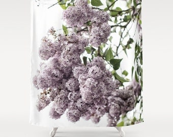 Shower Curtain, French Country, Lilac, Botanical, 71x74 inches, Exceptional Quality, fPOE