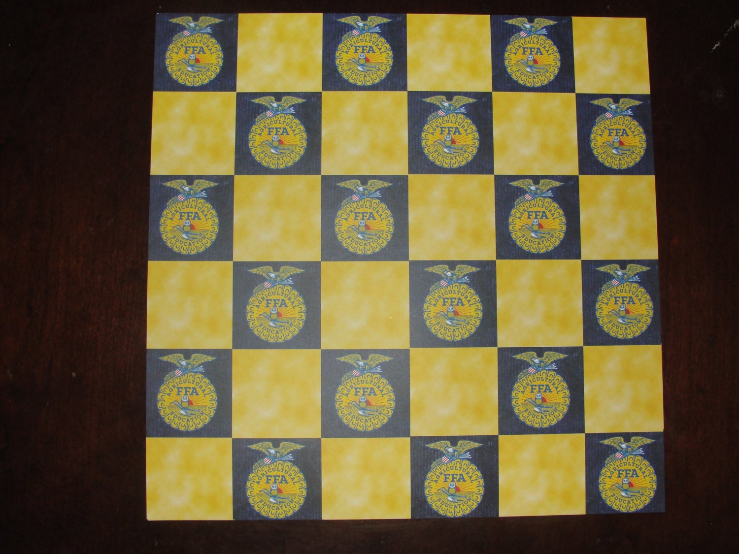12x12 FFA checker board pattern scrapbook paper