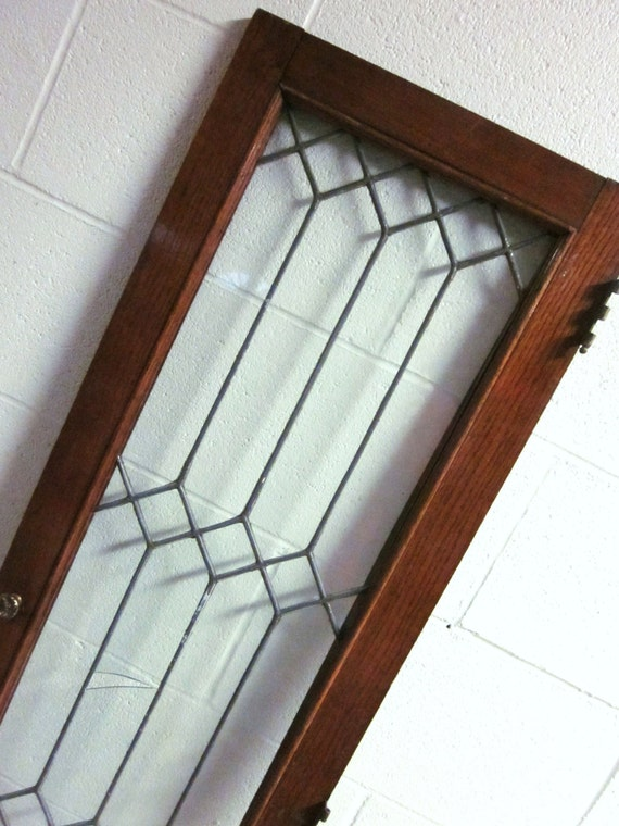 Vintage Leaded Glass Cabinet Doors | MF Cabinets