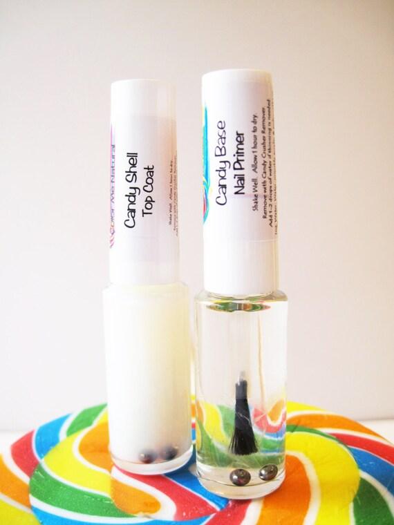 Candy Paint - Natural Non-toxic Nail Primer & Top Coat  Mini Duo