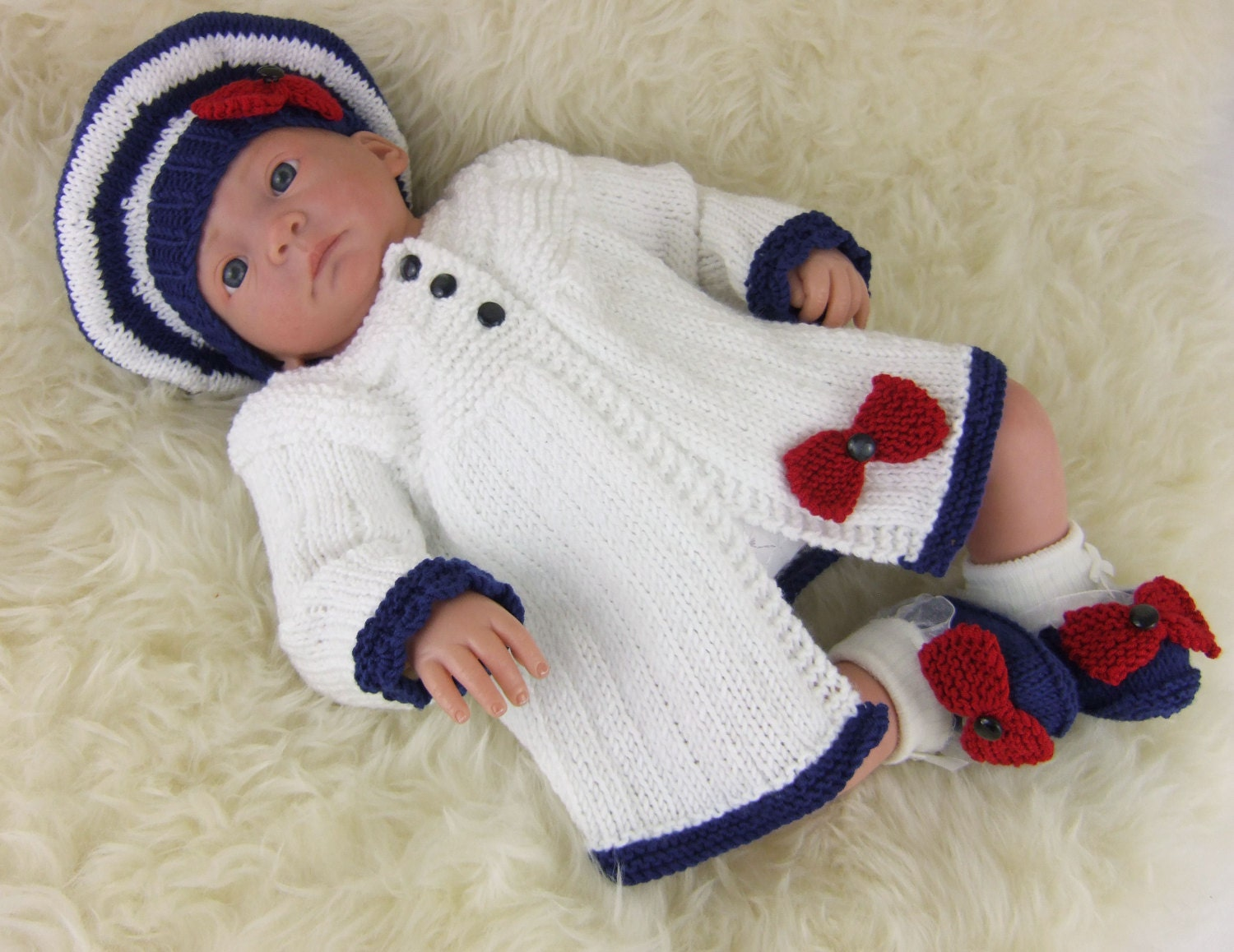 Amazing Free Knitting Patterns For Baby Sets Collection - Sewing ...