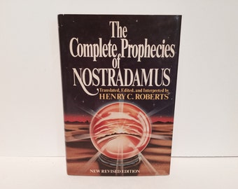 BOOKLOVERS SALE Vintage Book The Complete Prophecies of Nostradamus by henry C. Roberts 1982 Hardcover