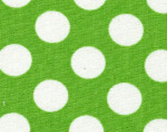 Fabric Finders Green with White Polka Dot Cotton Fabric