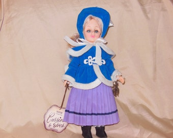 "Vintage EFFANBEE Doll Skater11"" from the Currier&Ives 1975"