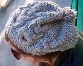 Owl You Need Is Love Owl Hand Knit Slouch Beanie Hat RESERVED for SARAH