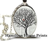 Cardinal in Tree Dictionary Art Print Pendant Dictionary Necklace Hamilton House Prints Orginal Jewelry Cardinal Jewelry