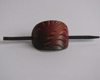 Leather Barrette/ Small