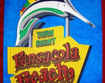 Pensacola Beach Sign Print