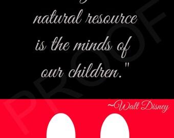 Disney Quote Print, Digital Art, Wall Art Print, INSTANT DOWNLOAD