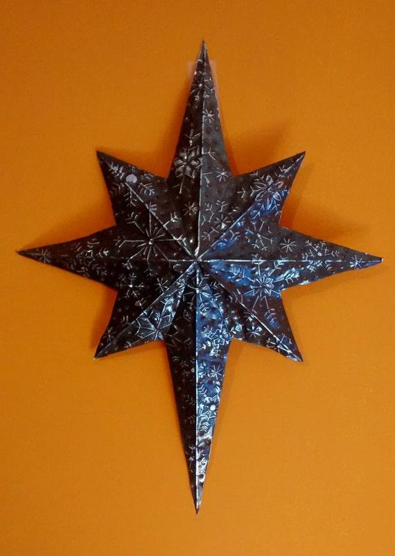 Christmas Decorations Star Of Bethlehem : Items similar to aluminum embossed star of bethlehem