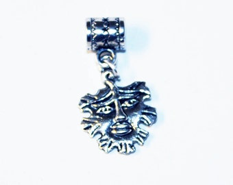 Silver Green Man Lr Hole Bead Fits All European Add a Bead Charm Bracelet Jewelry PND-PWC-GH013