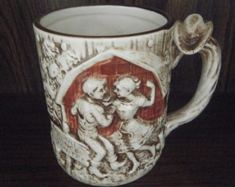 Square Dance Tonight! Vintage Enesco Coffee Mug