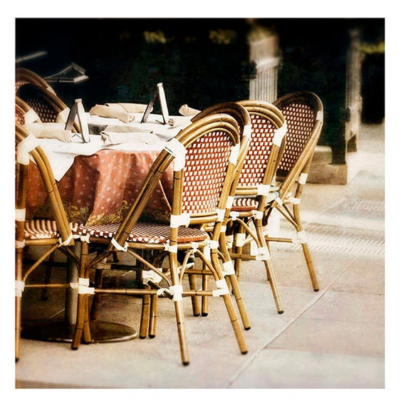 Fine Art Photography, City Scene, Cafe, Bistro, Kitchen Art, Home decor, Cottage, 5x5 & larger inch print