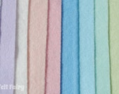 "Pastels 6"", 9"" OR 12"" Squares 10 Shades - Wool Blend Felt"