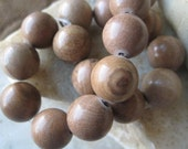 Picture Jasper Beads: Round Polished Brown Natural Semi-Precious Gemstones, 11 to 12mm, 17 pcs.