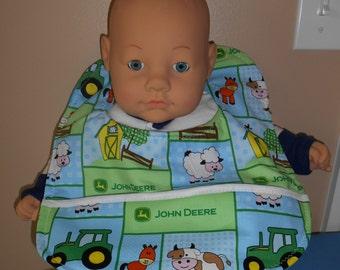 John Deere Farm Animals Baby Bib