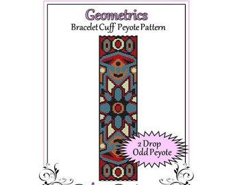 Bead Pattern Peyote(Bracelet Cuff)-Geometrics