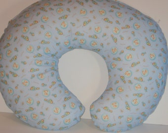 Boppy Cover, Boppy Slipcover, Boppy Pillow Cover, Nursing Pillow Cover, Bobby Pillow Cover, Blue Boppy Cover, Puppy Dog, Baby Boy Gift,  RTS