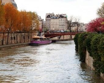 Paris Photography - Autumn in Paris - Parisian Decor - France - Paris Photograph - Seine River - French Wall Art - Paris Print  Fall